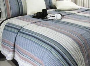 外贸纯棉色织 美式乡村 床盖 绗缝被 空调薄被 三件套-多瑙河之波,床品,