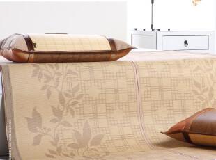包邮梦神正品凉席 原生态 竹+藤双面加厚1.8 1.5m席子三件套 折叠,床品,