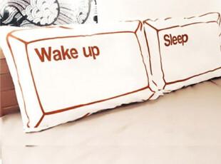 Keyidea创意枕套极客族键盘组合全棉枕套-SLEEP&WAKE UP,床品,