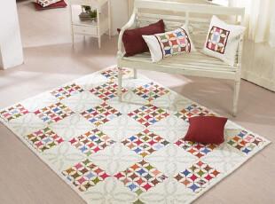【Asa room】韩国进口代购床单 田园格子爬行垫加厚纯棉地毯dc163,床品,