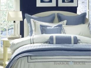 Harbor House 美式家居 Hotel Dots 全棉缎纹 三件套 两色可选,床品,