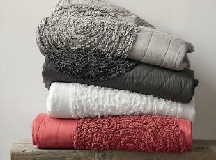 【纽约下城公园】素色浪漫圆圈夹棉绗缝被(枕套另选),床品,
