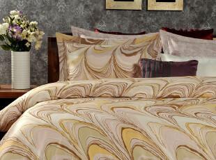 F2466 美式家居 60贡缎长绒棉 抽象印花 四件套,床品,