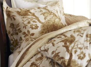 简单的奢华 欧式古典灵雀手绘印像纯棉被套 意大利制造,床品,