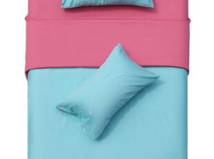 TL家纺 全棉纯色素色四件套 纯棉床单床笠式 单人双人 床上用品,床品,