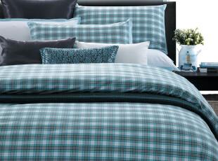 TL家居 床单床笠式 色织纯棉50支长绒贡缎 四件套 质感条格,床品,
