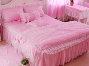 花开木木 四件套 床上用品 床品套件 粉色公主梦 纯棉四件套,床品,