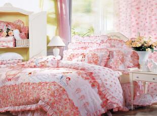 富安娜 馨而乐 我愿意 正品 床上用品 全棉婚庆 床单十件套,床品,
