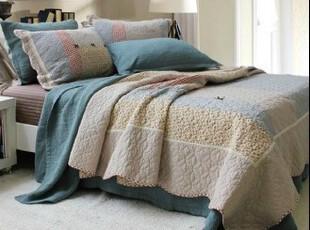 韩式 拼布纯棉绗缝三/四件套 春秋被 被套 床盖 全棉床上用品,床品,