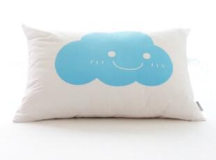 【韩国进口家居】B089 可爱微笑蓝色小云朵枕头 含芯,床品,