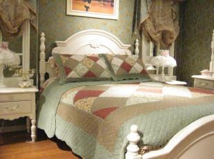 韩式田园 纯棉拼布绗缝被四件套 外贸原单 床盖 全棉春秋被 被套,床品,