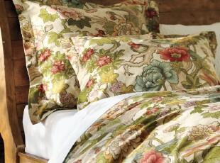 【纽约下城公园】英格丽古典花朵精制棉被套(另附枕套)现货,床品,