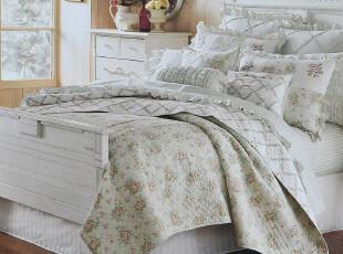 JF2948 美国高端绗缝缎纹布  绗缝三件套,床品,