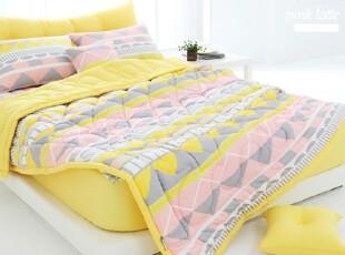 【今日特价直降30】韩国床品 糖果色夏凉被纯棉四件套正品 c826,床品,