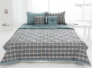 【Asa room】韩国进口代购床品 简约格子夏凉被单人双人纯棉 c831,床品,