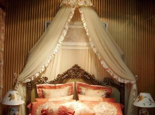 [金卧床幔] 韩式欧式品牌装饰床头拉链蚊帐 维多利亚米黄床帘,床品,