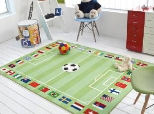 【Asa room】韩国进口代购床单 卡通儿童足球纯棉地毯爬行垫dc182,床品,
