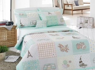 【Asa room】韩国进口代购床品卡通儿童夏凉被空调被四件套c808-m,床品,