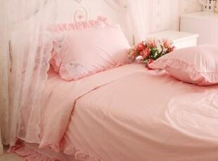 花开木木田园风格 床上用品四件套 公主床品套件 粉色维也纳,床品,