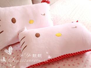 日本正版hello kitty大红蝴蝶结枕套 不含枕芯,床品,