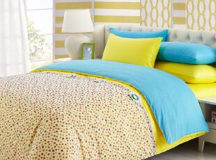 新品 慢漫 漫小萌 全棉素色四件套 纯棉床单式床笠式 床上用品,床品,