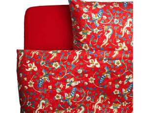 夜家居 时尚婚庆床品 大红龙凤床上用品全棉四件套 结婚时代 包邮,床品,