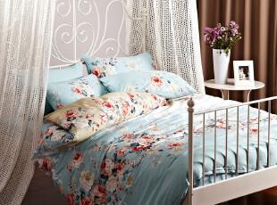 皇冠寝饰 纯棉四件套 全棉斜纹印花套件床品,床品,