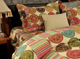 JF2610 彩色圆圈 绗缝四件套,床品,