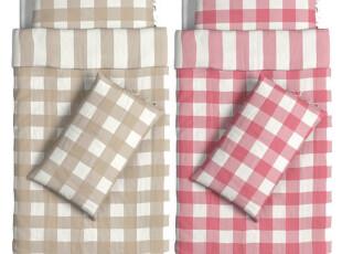 欧式新款彩色格子被套简约风格,床品,