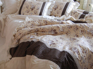 『韩国网站代购』高山流水,以菊为名 古典安静的花色床品套件,床品,