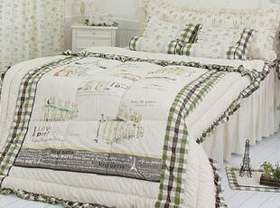 【Asa room】韩国进口代购床品 田园绿色格子纹被子四件套c489-bz,床品,