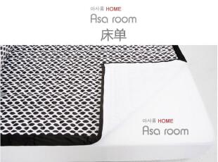 【Asa room】韩国进口床单 简约黑色豹纹短绒爬行垫代购 dc093,床品,