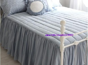 韩国代购 衍缝加厚床罩床裙,床品,
