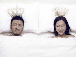 ONEDAY正品 国王和王后创意枕套 个性情侣枕套 床上用品 礼物,床品,