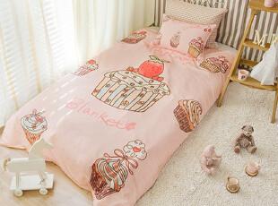 『韩国网站代购』看着就甜美 可爱糖果色蛋糕图案床品两件套,床品,