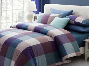 TL家纺 全棉斜纹活性印花四件套 纯棉床笠式床单式 床上用品 AA,床品,