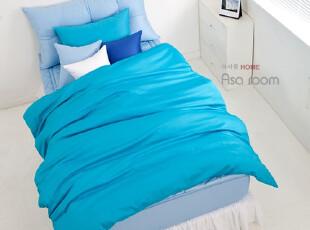 【Asa room】韩国进口床品 单色纯棉被套四件套代购正品蓝色 c351,床品,