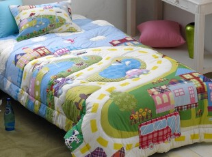 【Asa room】韩国进口床品 儿童卡通纯棉被子枕套代购正品 c780-b,床品,