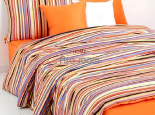 【Asa room】韩国进口床品代购 五彩条纹纯棉被套四件套正品 c659,床品,