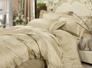 全棉贡缎提花仿真丝婚庆床上用品四件套 结婚被套 家纺床品 15款,床品,