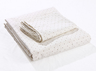 小圆点三件套(被套+两枕套),床品,
