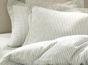 【纽约下城公园】 难忘50年代灰白怀旧条纹被套(另有枕套),床品,