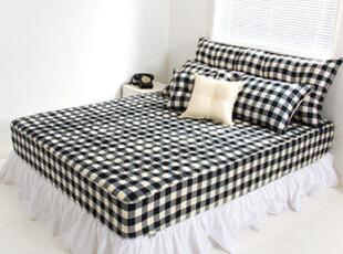 【Asa room】韩国进口床品 简约时尚格子纹纯棉床罩代购 dc124,床品,