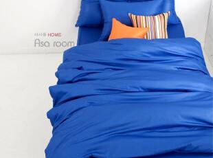 【Asa room】韩国进口床品 蓝色单色被套四件套韩式代购正品 c349,床品,