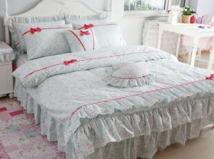 花开木木 家纺 全棉四件套 床上用品 床品套件 夏日花语四件套,床品,