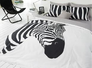 【Asa room】韩国进口代购床品 可爱卡通斑马时尚被套三件套 c792,床品,