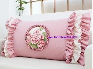 韩国定制 粉色布艺床头靠背/双人靠垫/3种,床品,