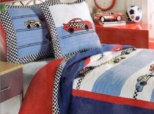男孩床品 外贸原单 美式儿童纯棉卡通 绗缝空调被 幼儿园被两件套,床品,