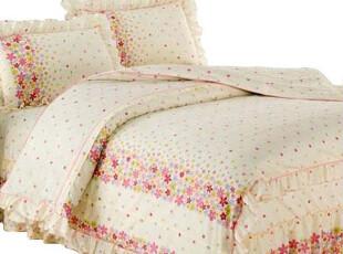 古尚 韩版花边床裙床品四件套 全棉斜纹 韩式纯棉床上用品 纯棉,床品,