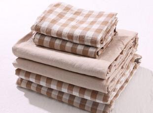 水洗棉  格子款四件套 床上用品 夏季可用  现货,床品,